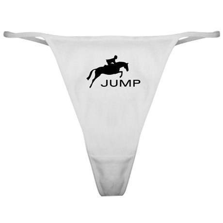 """JUMP"" Hunter Jumper Classic Thong"