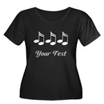 Music Notes Personalized Women's Plus Size Scoop N