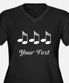 Music Notes Personalized Women's Plus Size V-Neck