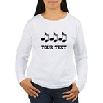 Music Notes Personalized Women's Long Sleeve T-Shi