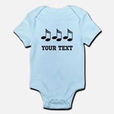 Music Notes Personalized Infant Bodysuit