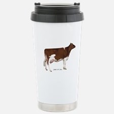 Red and White Holstein cow Stainless Steel Travel