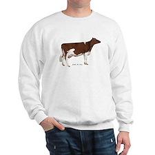 Red and White Holstein cow Sweatshirt