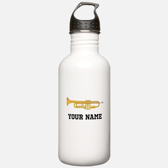 Personalized Trumpet Water Bottle
