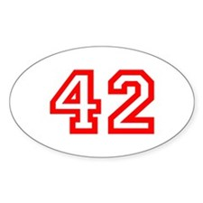 Number 42 Oval Decal