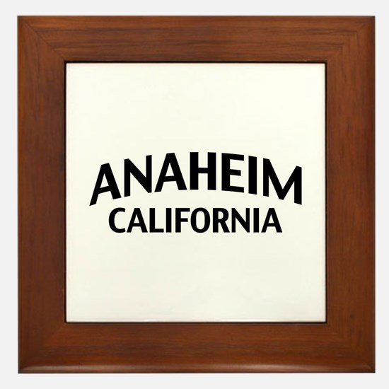 Anaheim California Framed Tile