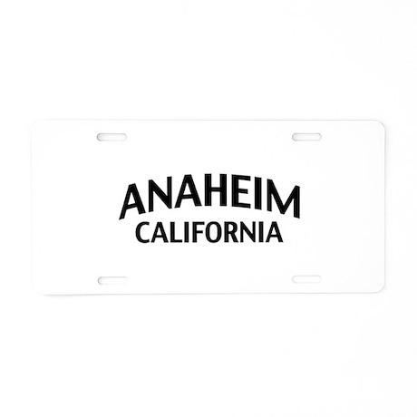 Anaheim California Aluminum License Plate