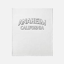 Anaheim California Throw Blanket