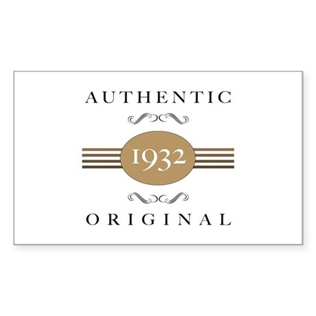 Authentic 1932 Sticker (Rectangle)