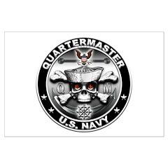 USN Quartermaster Skull QM Posters