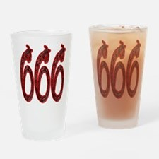 666 Snakes Drinking Glass