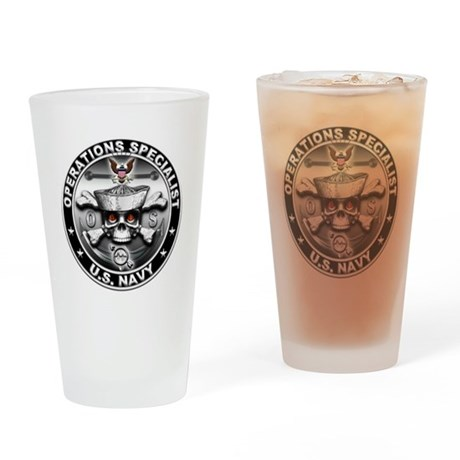USN Operations Specialist Sku Drinking Glass