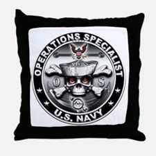 USN Operations Specialist Sku Throw Pillow
