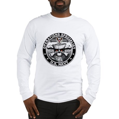 USN Operations Specialist Sku Long Sleeve T-Shirt