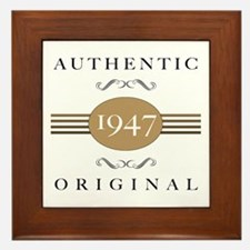 Authentic 1947 Framed Tile