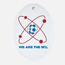 We are the 18 percent! Ornament (Oval)