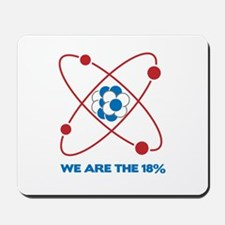 We are the 18 percent! Mousepad