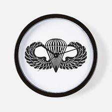 Parachutist -- B-W Wall Clock