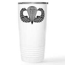 Parachutist -- B-W Travel Mug