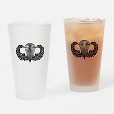 Parachutist -- B-W Drinking Glass