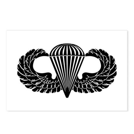 Parachutist -- B-W Postcards (Package of 8)