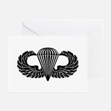 Parachutist -- B-W Greeting Cards (Pk of 10)