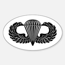 Parachutist -- B-W Decal