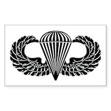 Parachutist -- B-W Decal