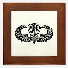 Parachutist -- B-W Framed Tile