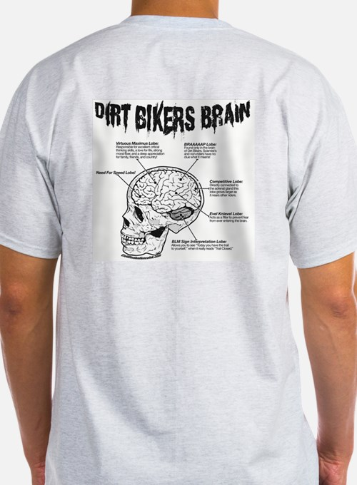 Dirt Bikers Brain T-Shirt front and back