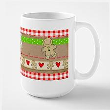 Gingerbread and Hearts Large Mug