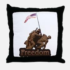 Freedom - WW2 Iwo Jimia Desig Throw Pillow