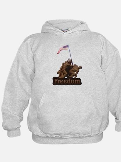 Freedom - WW2 Iwo Jimia Desig Hoodie