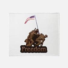 Freedom - WW2 Iwo Jimia Desig Throw Blanket