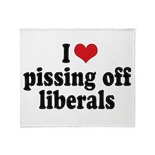 Anti-liberal I heart Throw Blanket