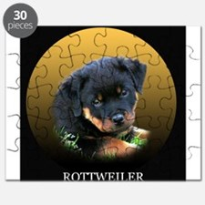 Rottweiler Puppy on Gift Idea Puzzle