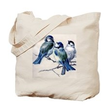 Winter Bluebirds Tote Bag