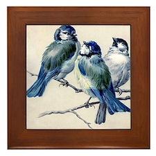 Winter Bluebirds Framed Tile