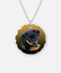 Rottweiler Puppy on more Gift Necklace