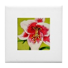 Lily Art Tile Coaster