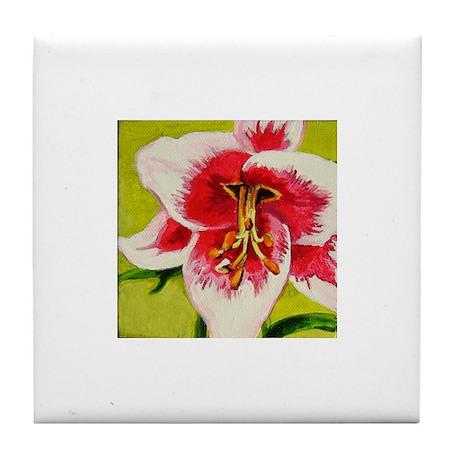 Lily Art Tile Coaster