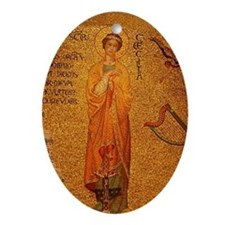Saint Cecilia Ornament (Oval)