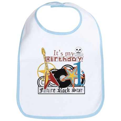 1st Birthday Future Rockstar Bib