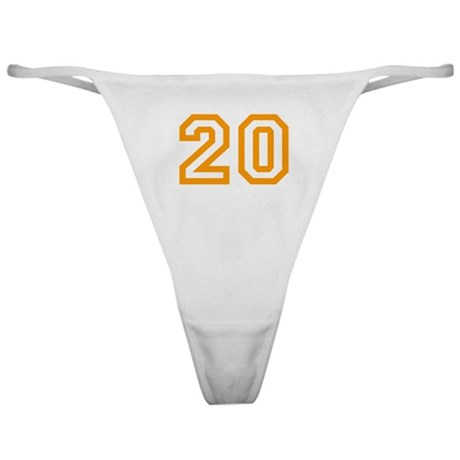 Number 20 Classic Thong