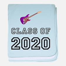 Class Of 2020 Guitar baby blanket