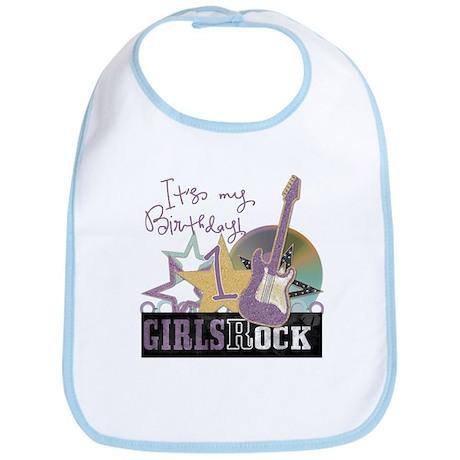1st Birthday Girls Rock Bib