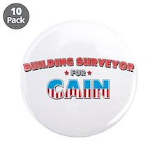 "Building surveyor for Cain 3.5"" Button (10 pack)"