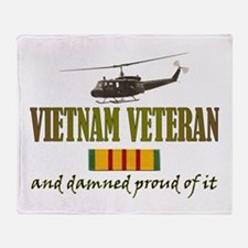 Proud Vietnam Veteran Throw Blanket