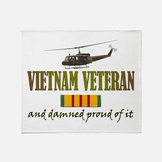 Proud Vietnam Veteran Throw Blanket