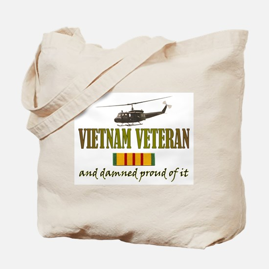 Proud Vietnam Veteran Tote Bag